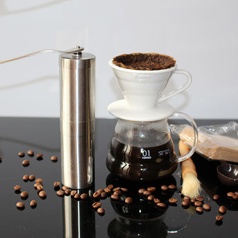 Coffee Grinder Stainless Steel Handmade - Hamtown Trading Co.