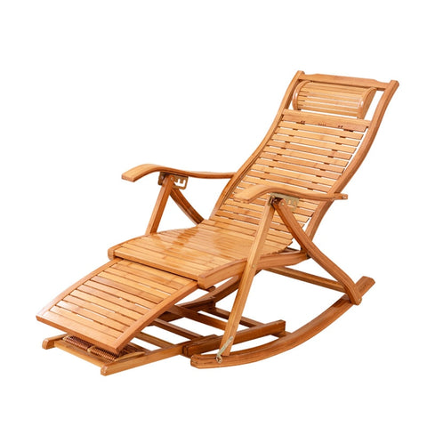 Folding Bamboo Rocking Recliner - Hamtown Trading Co.