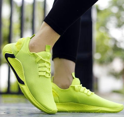 Lime Stylish Running Shoes
