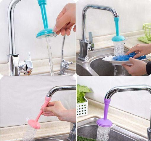 Kitchen Faucet Plastic Adjustable Tap Extender, Sink Tap Shower Head Nozzle Saving Water for Kitchen Water Foucet