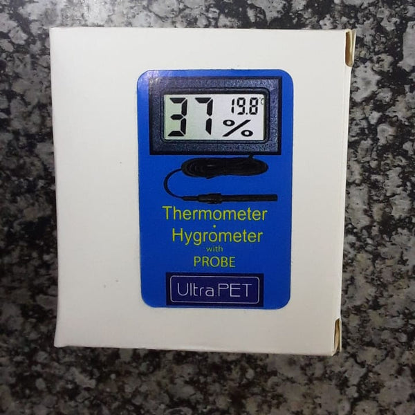 ULTRA PET DIGITAL THERMOMETER / HYGROMETER WITH PROBE - Just arrived