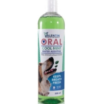 VALENTIN ORAL COOL MINT WATER ADDITIVE FOR DOGS 500ML - Just Arrived
