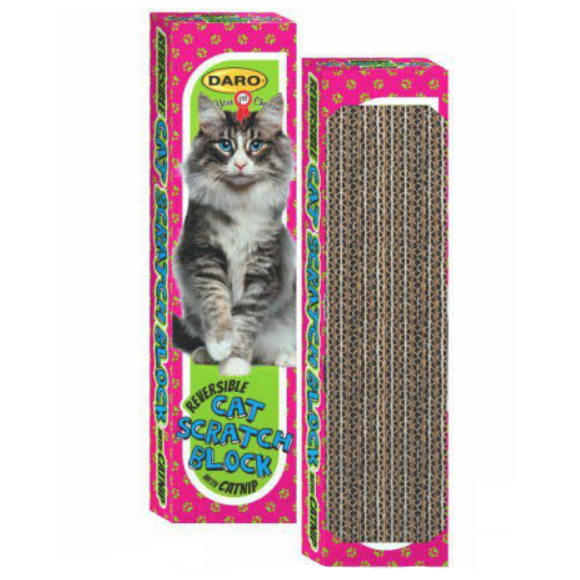 DARO REVERSIBLE CAT SCRATCH BLOCK WITH CATNIP - Just Arrived