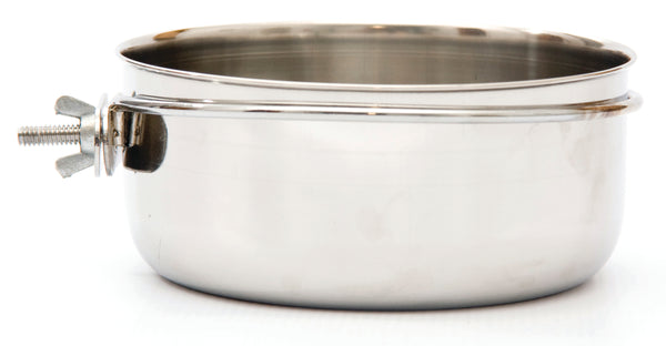 MARLTONS STAINLESS STEEL SCREW-ON BIRD BOWL 0.3L - ONLINE DEAL ONLY