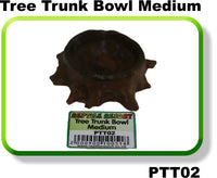 REPTILE RESORT TREE TRUNK BOWL MEDIUM