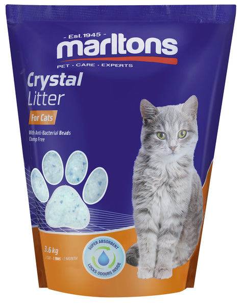 MARLTONS CAT LITTER CRYSTALS 3.6KG