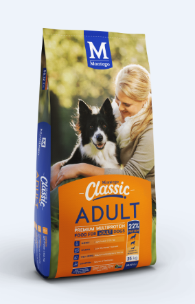 MONTEGO CLASSIC ADULT DOG FOOD 25KG