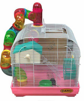ROUND FUNKY TUBE WINDOW HAMSTER CAGE DOUBLE