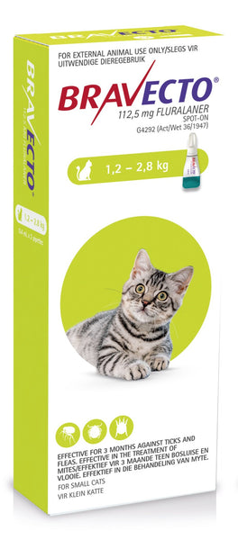 BRAVECTO SPOT-ON CAT SMALL 1.2 - 2.8KG