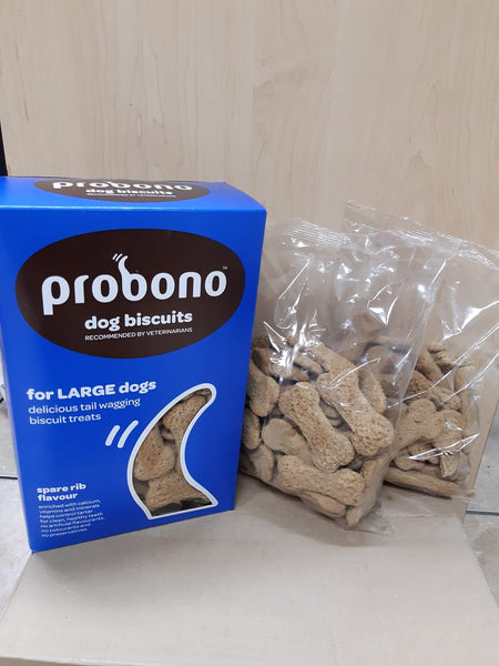 PROBONO BISCUITS SPARE RIB LRG DOG 500G