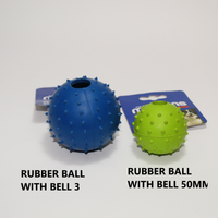 MARLTONS RUBBER BALL WITH BELL 3