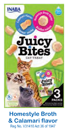 JUICY BITES BROTH & CALAMARI - CAT TREATS