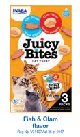 JUICY BITES FISH & CLAM - CAT TREATS