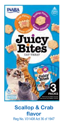 JUICY BITES SCALLOP & CRAB - CAT TREATS