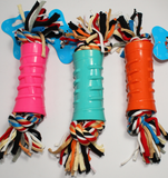 ROPE IN RUBBER DOG TOY - ONLINE DEAL ONLY