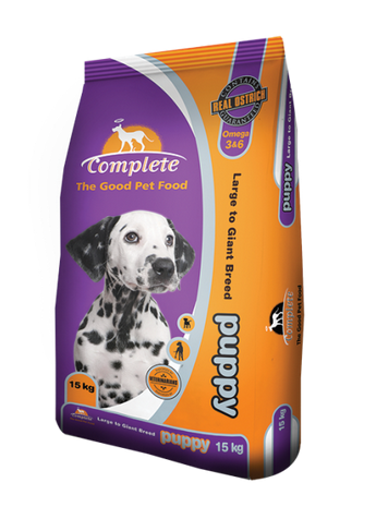 COMPLETE PUPPY DOG FOOD LARGE BREED 15KG