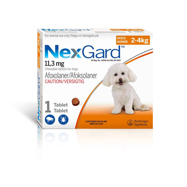 NEXGARD  2-4KG - TICK AND FLEA TREATMENT FOR DOGS