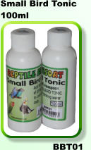 REPTILE RESORT SMALL BIRD TONIC 100ML - Just arrived