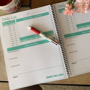Print It Yourself Infant/Toddler Teal Diary