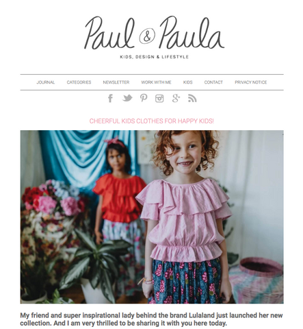 lulaland at Paul & Paula blog- children's clothing