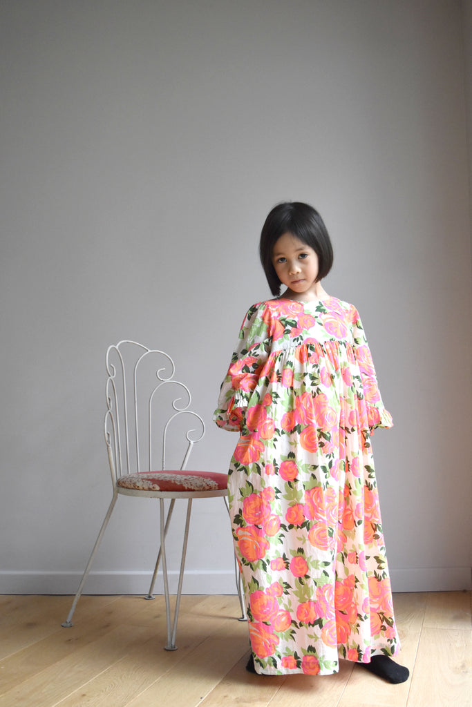 lulaland Fall No.15 Mirage collection. Girl wearing a beautiful flowery party dress