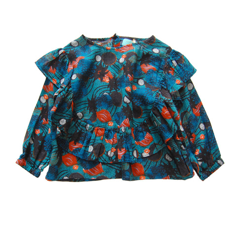 Lola Blouse African Pineapples Organic
