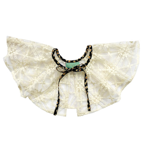 Girls clothes. Big lace tulle collar accessory. Dress accessory. party collar.