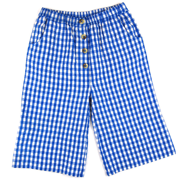 Connie Culottes Blue Gingham