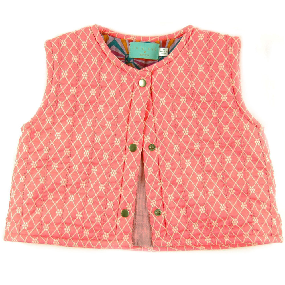 Glen Vest Diamonds Neon Jacquard Organic