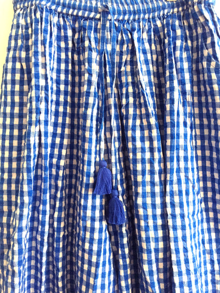 Carmen WOMAN pants Gingham Blue
