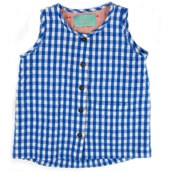 Jeremy Tank Top Blue Gingham