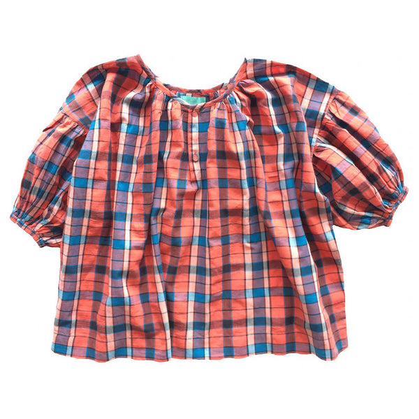 Zoe Blouse Red Plaid