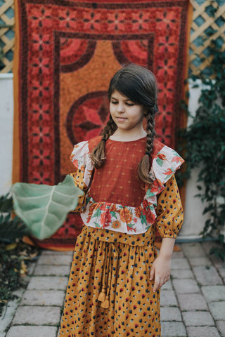 Lola Blouse Paprika Mix
