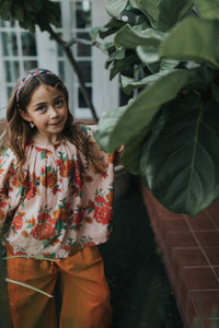 Zoe Blouse Pink Bloom