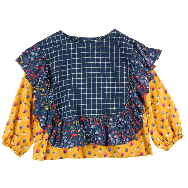 Lola Blouse Ocean Mix