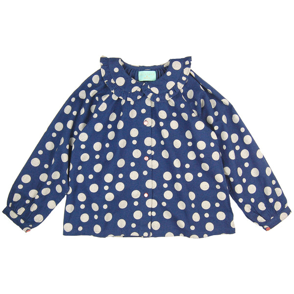 Olivia Blouse Dots Flannel