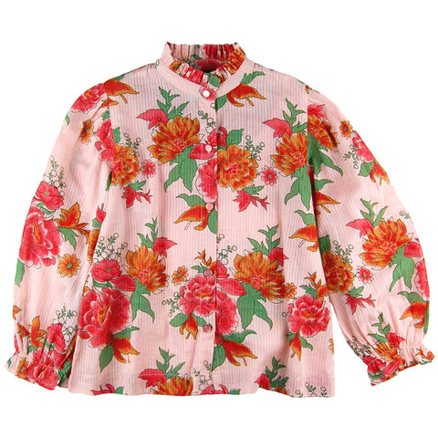 Rosalie Blouse Pink Bloom