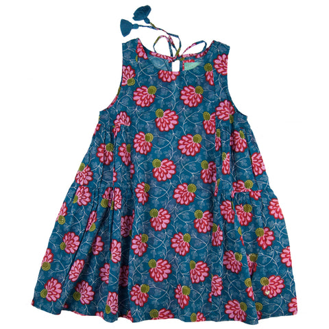 Lena Dress Water Lilly- Organic