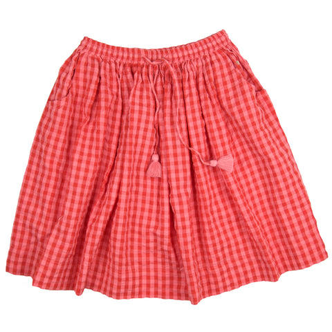 Mika Midi Skirt Red Gingham