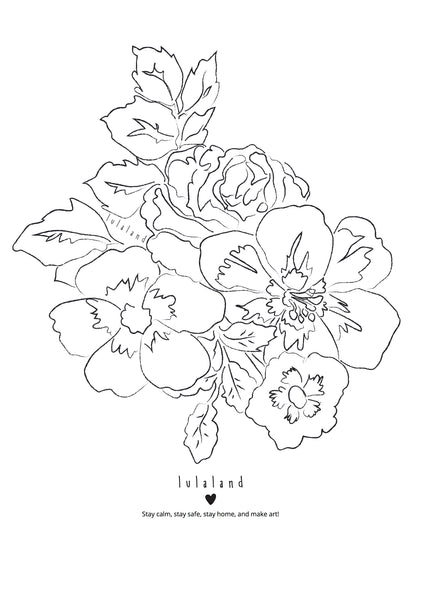 FREE Printable coloring lulaland Flowers Nr 4- Download it!