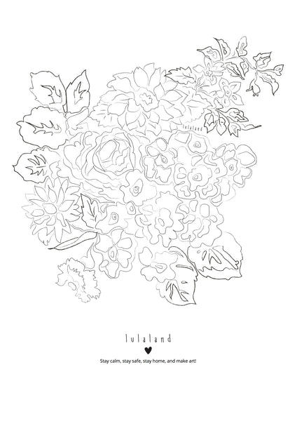 FREE Printable coloring lulaland Flowers Nr 1- Download it!