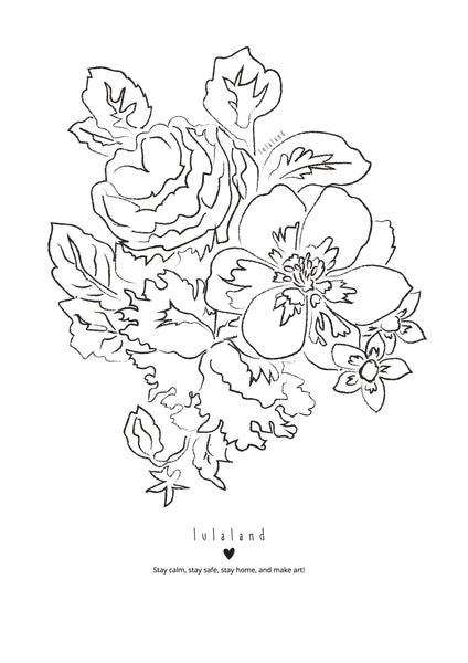 FREE Printable coloring lulaland Flowers Nr 2- Download it!