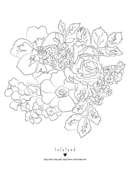 FREE Printable coloring lulaland Flowers Nr 3- Download it!