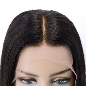 """Claire"" No Baby Hair Invisible Straight Bob Lace Front Wig"