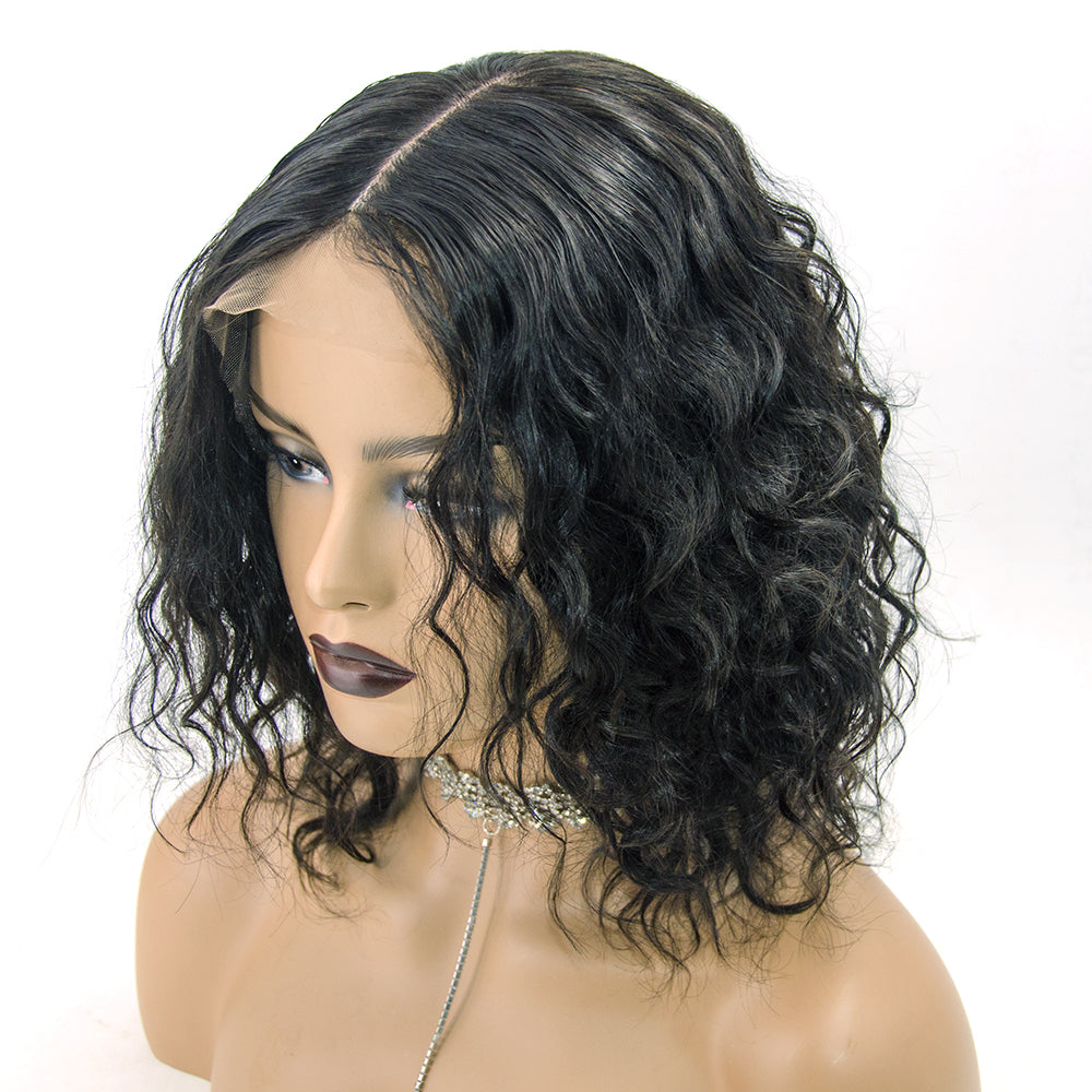 """Eleanor"" Most Realistic Silk Base Scalp Natural Curly Lace Front Wig"