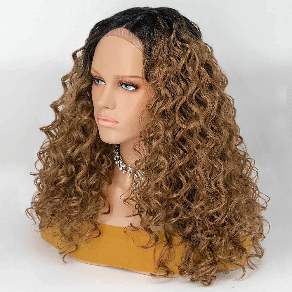 [NEW IN]Lace Front Wig Middle Part Body Wavy Ombre Synthetic Wigs