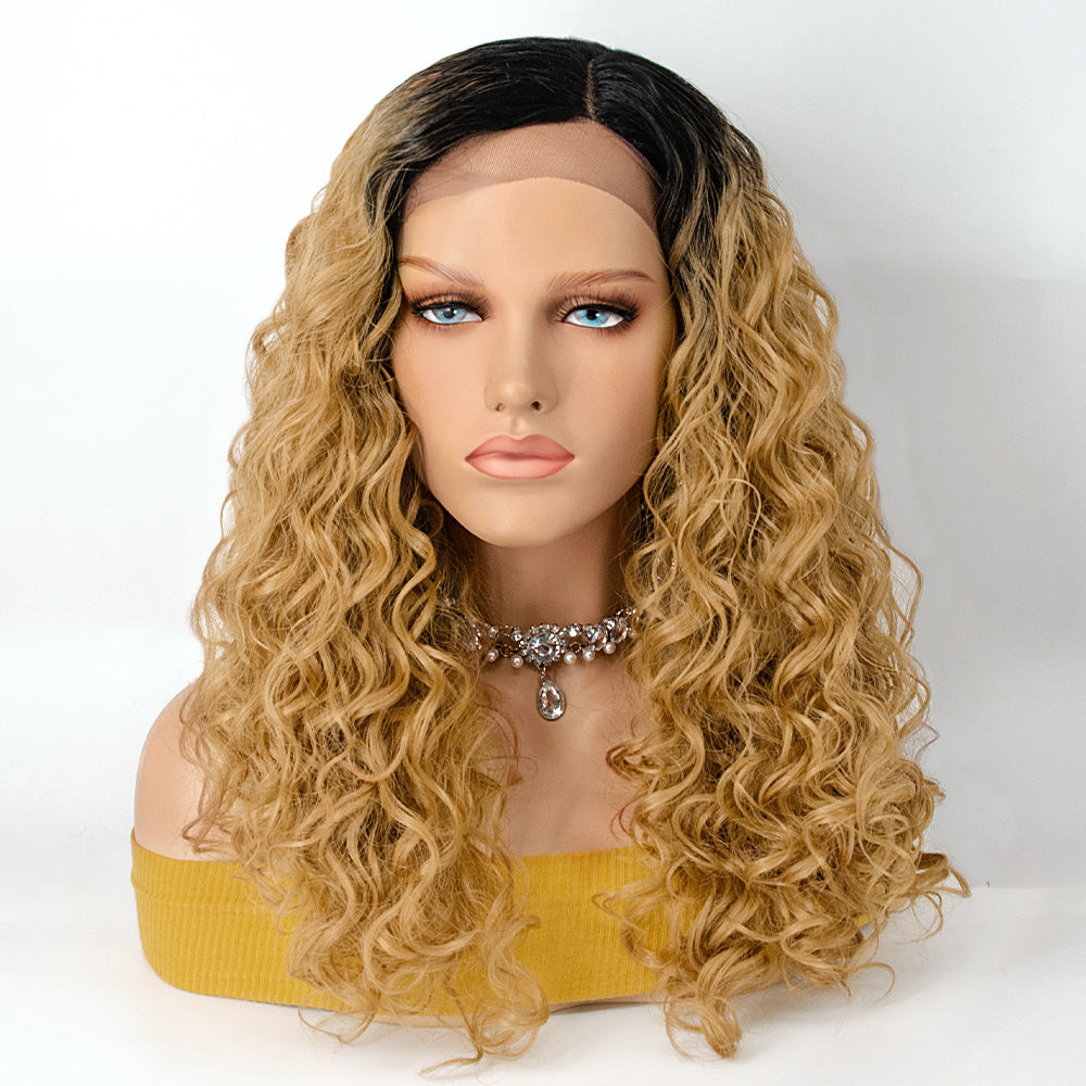 [NEW IN]#1B/27 Ombre Body Wavy Middle Part Lace Front Wig Synthetic Wigs