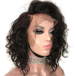"""Debbie"" Pre-bleached Curly Lace Wig Human Hair"
