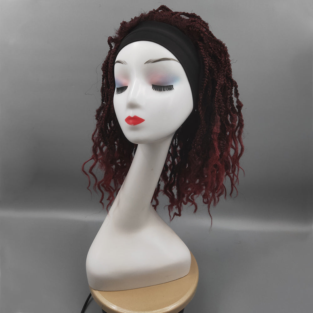 [Pre-sale] Braided Fish Bone Headband Wig For Black Women