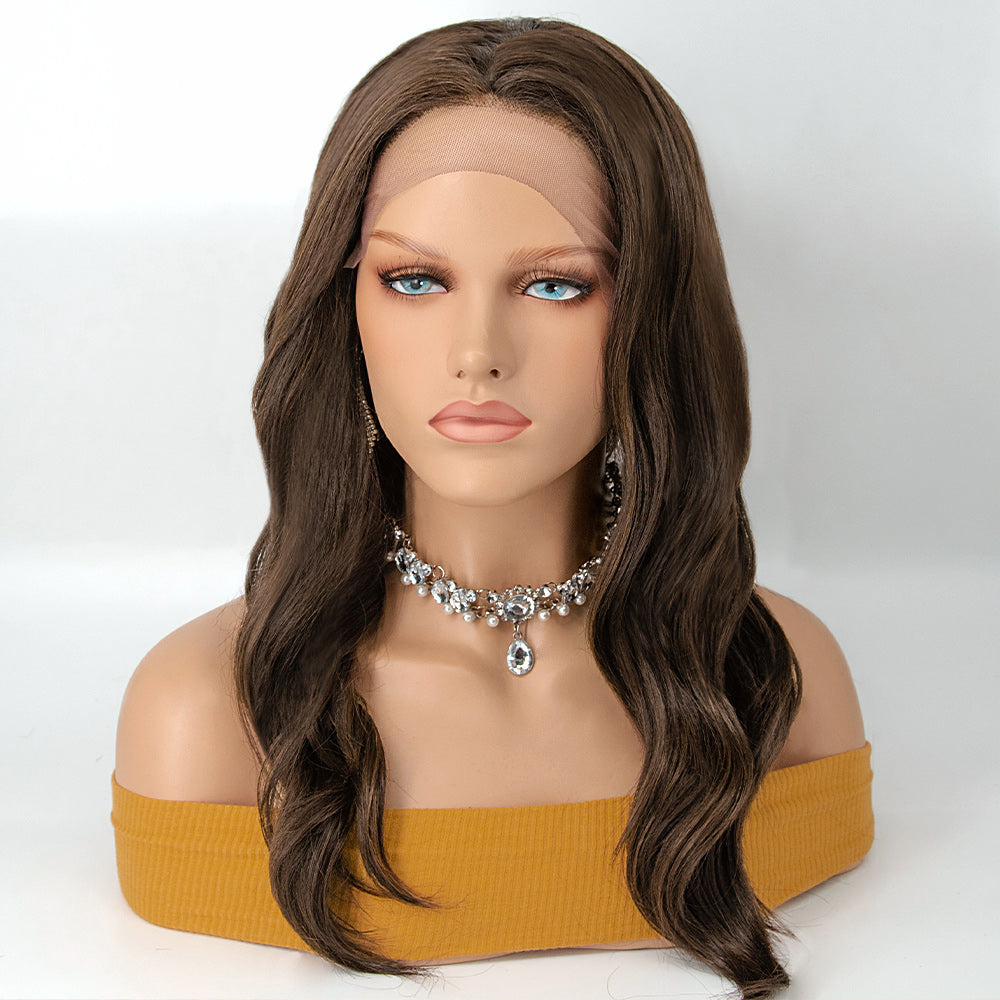 [NEW IN]Curly Ombre 22 Inches Long Synthetic Lace Front Wigs